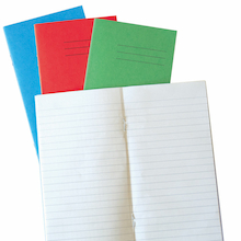 6.5 x 4'' 48 pages 100pk Exercise Books  medium