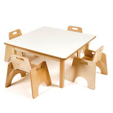 Toddler Low Square Table H380mm  medium