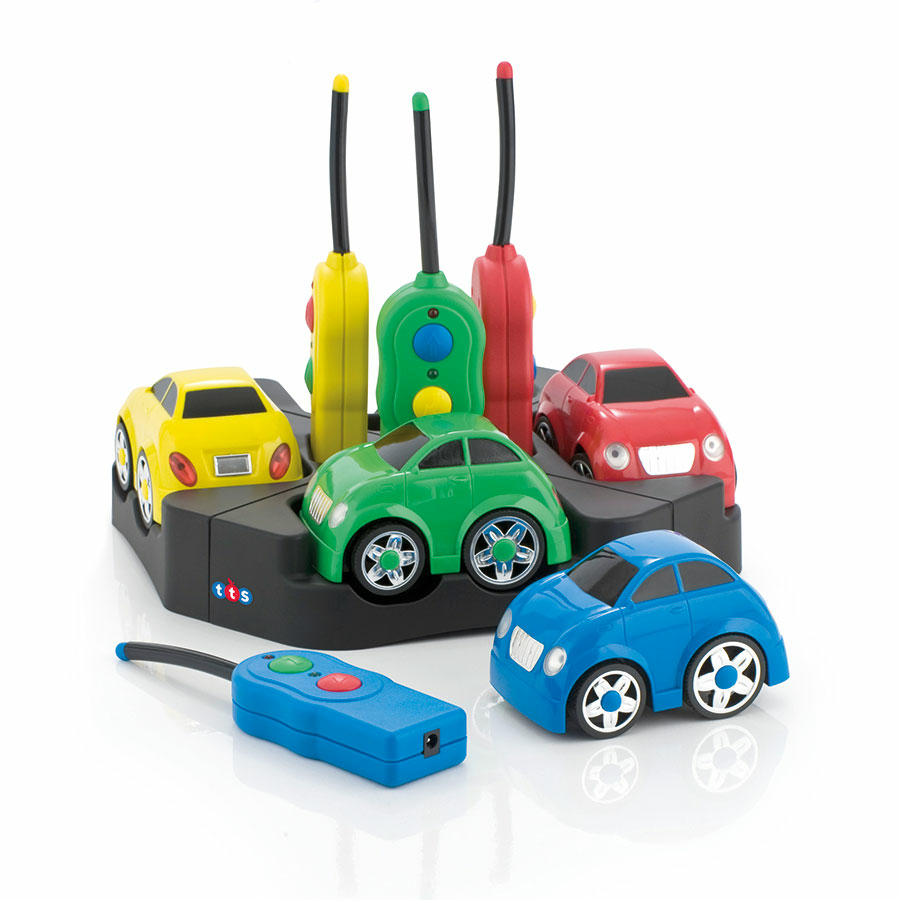 Buy Rechargeable Remote Control Easi Cars 4pk Tts International