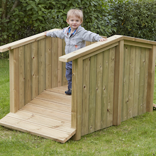 Outdoor Wooden Toddler Bridge  medium