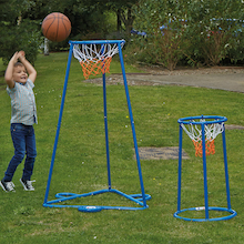Outdoor Twin Hoop Basketball Stand  medium