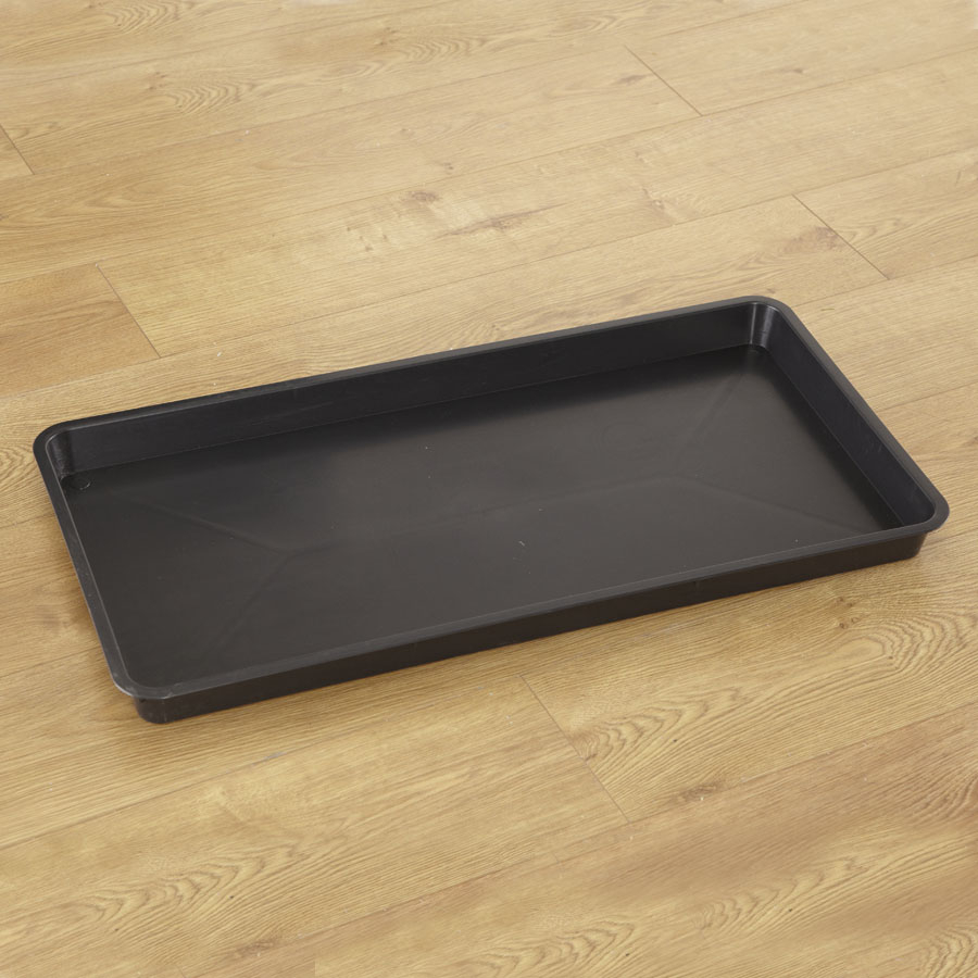 Buy Rectangular Plastic Black Tray Tts International