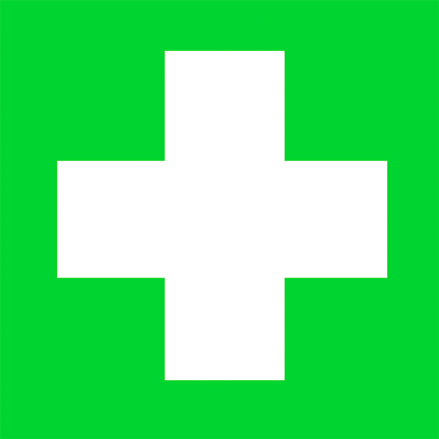Buy Self Adhesive Green First Aid Sign Tts International
