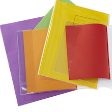 Slip On Clear Exercise Book Covers 100pk  medium