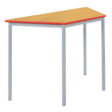 Fully Welded Tables Coloured Edge Trapezium  medium