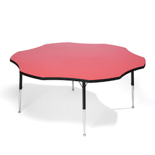 Height Adjustable Flower Classroom Table  medium