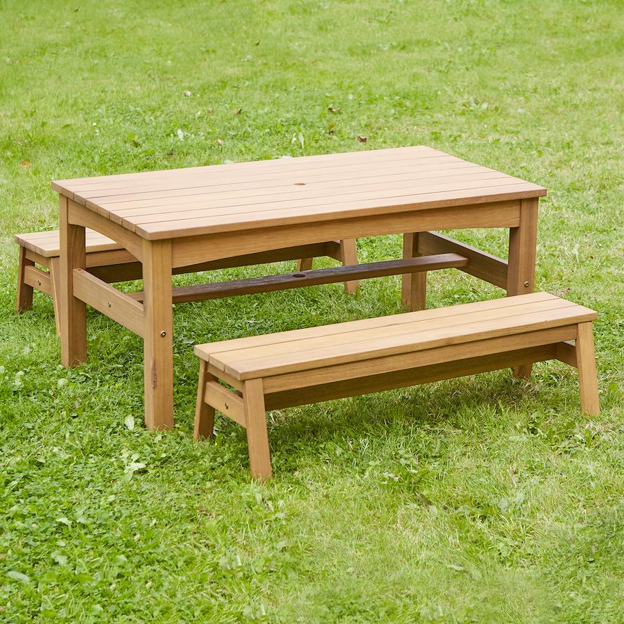 Wondrous Buy Outdoor Low Table And Benches Set Tts International Inzonedesignstudio Interior Chair Design Inzonedesignstudiocom