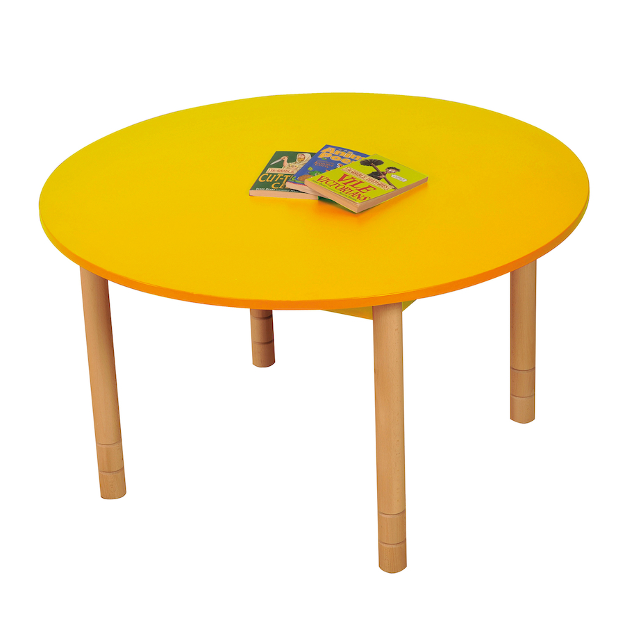 Gentil ... Height Adjustable Round Wooden Classroom Tables Small ...