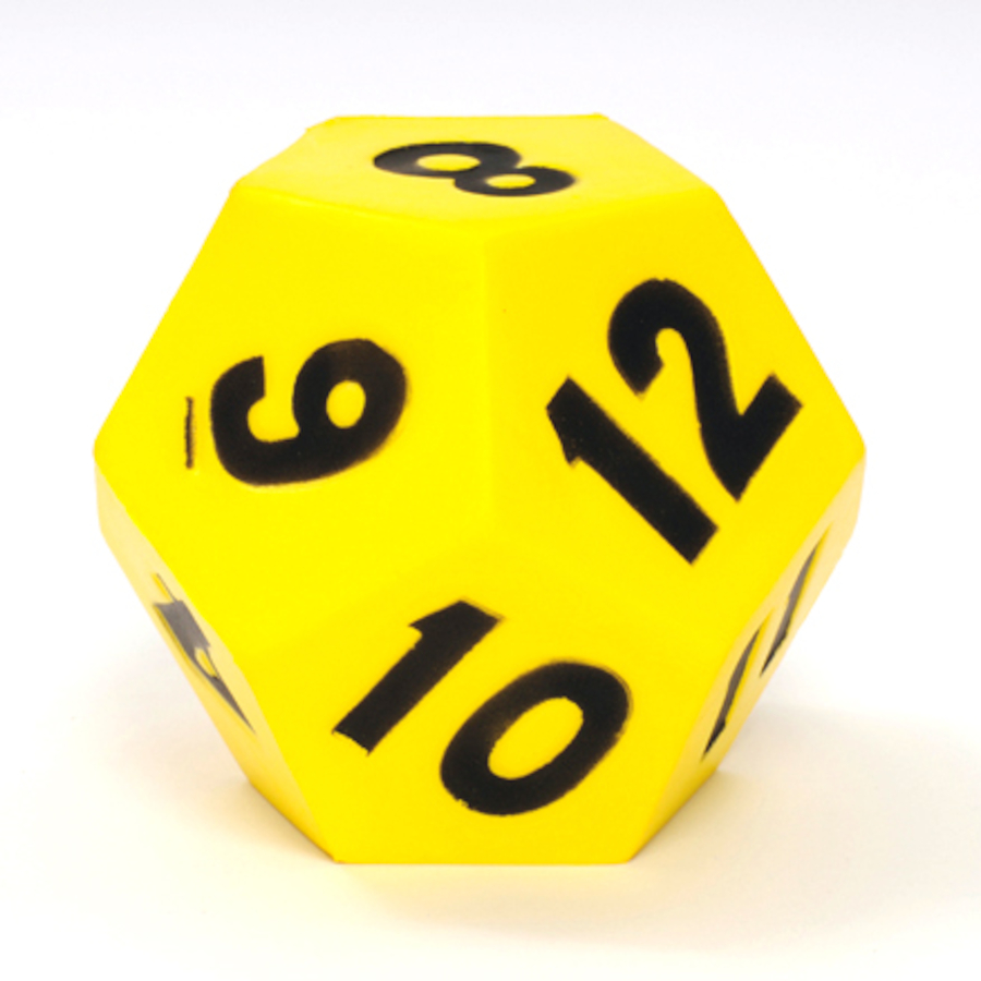 buy 12 sided giant foam dice tts international