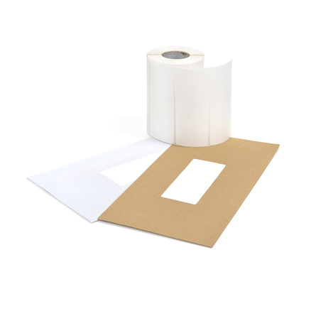 TTS White Self Adhesive Labels  large