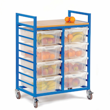 Large Trolley With Eight Lidded Trays  medium