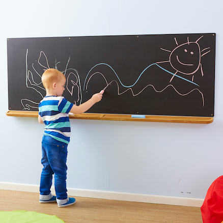buy wall mounted long chalkboard tts international