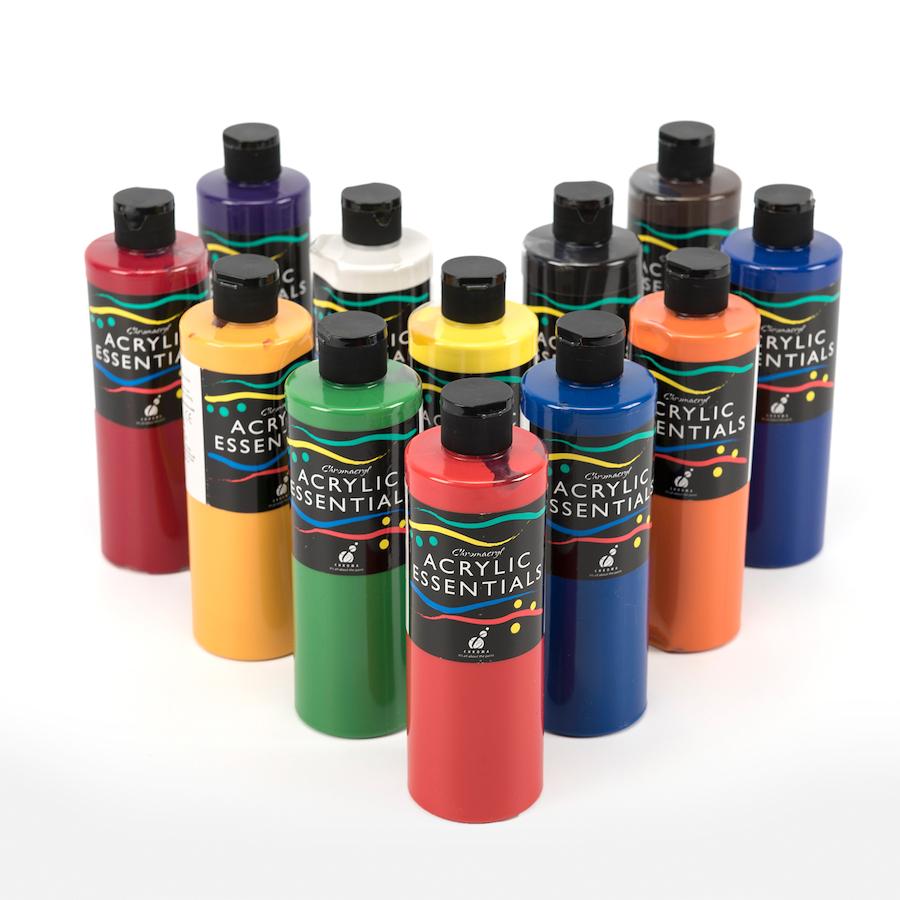 buy chromacryl acrylic essentials paint 12pk tts international