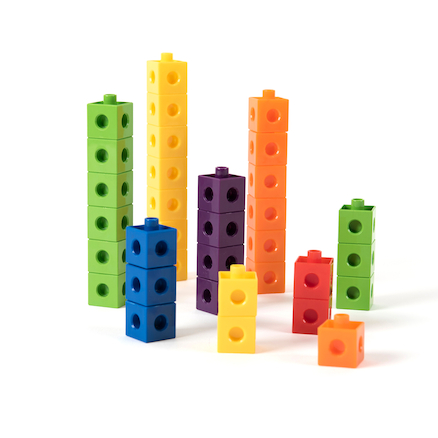 buy colourful snap counting cubes 1000pk tts international