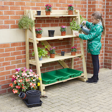 Outdoor Wooden Tiered Shelving Units  medium