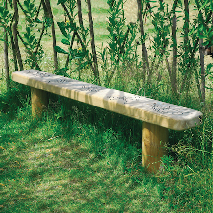 Engraved Outdoor Wooden Bench  large