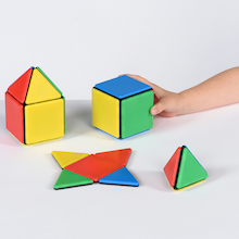 Solid Magnetic Polydron Set  medium