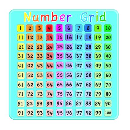 Buy Coloured Number Grid Signboard | TTS International