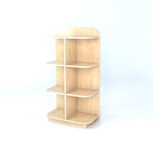 D-End Cap Library Bookcase In Maple  medium