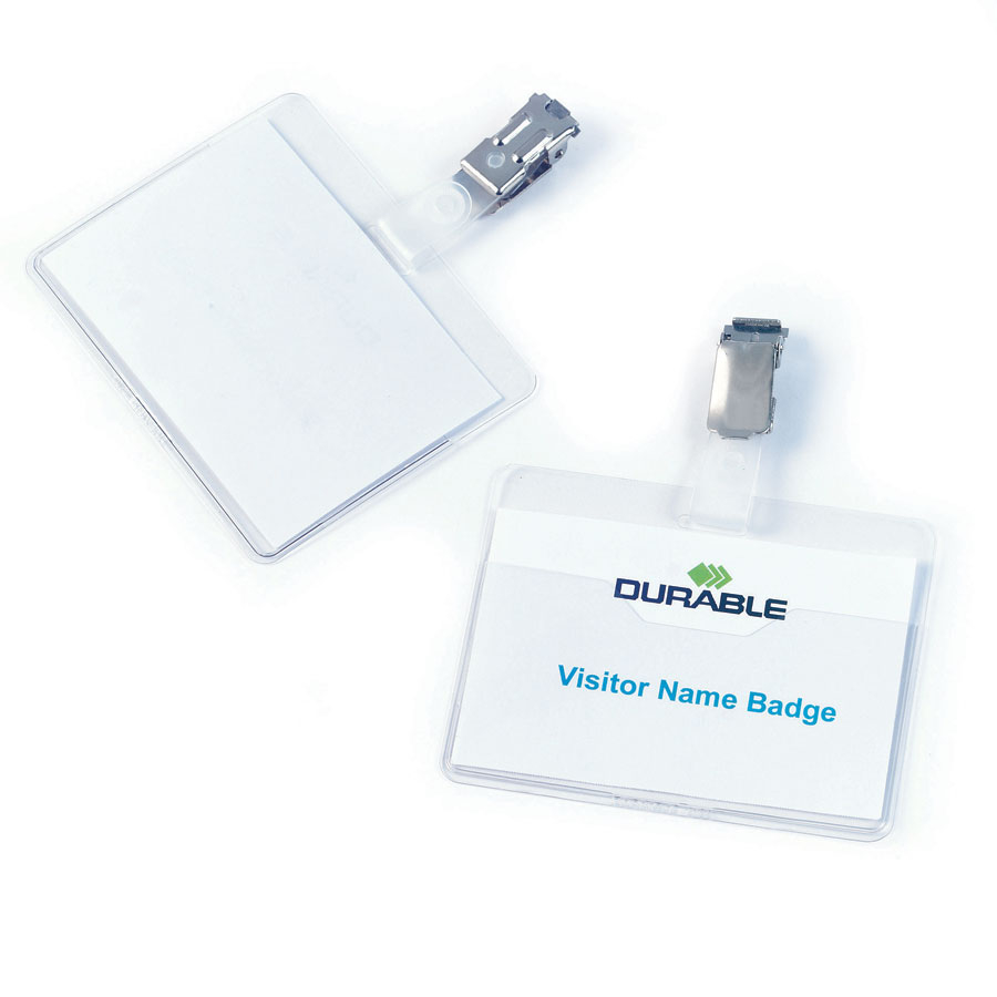 buy visitor name badges with metal clip 25pk tts international