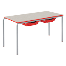 Crush Bent Rectangular Tray Table L1100mm  medium
