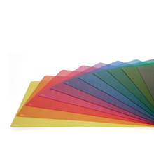 Assorted Coloured Overlays 10pk  medium