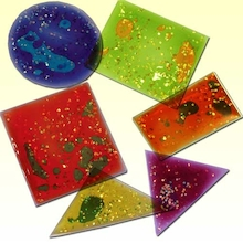 Multicoloured Squidgy Sparkles Shapes 12pk  medium