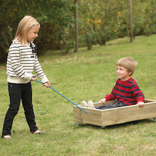 Outdoor Wooden Pull Along Cart  medium