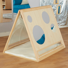 Toddler Curiosity Wooden Mirrored Triangle  medium