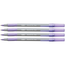 Bic® Round Stic Purple Teacher Pens  medium