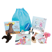 Clickety Speech Booster Book and Toy Sacks   medium