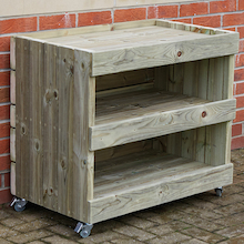 Outdoor Hollow Block Storage Trolley  medium