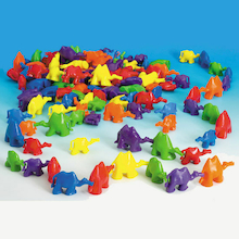 3D Coloured Connecting Camel Figures 96pk  medium