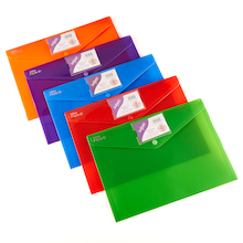 Snopake Rainbow Polyfile ID Wallets 5pk  medium
