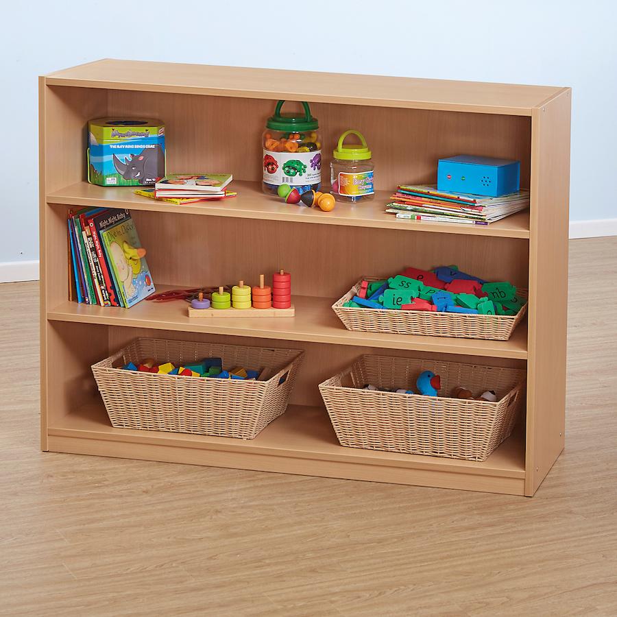 Clic Beech Three Shelf Bookcase Large Tts School Resources Online