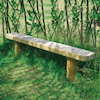 Engraved Outdoor Wooden Bench  small
