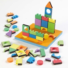 Magic Magnetic Foam Shapes 54pcs  medium