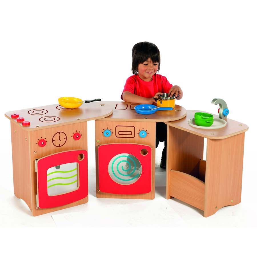 wooden pack away toddler role play kitchen - Toddler Kitchen