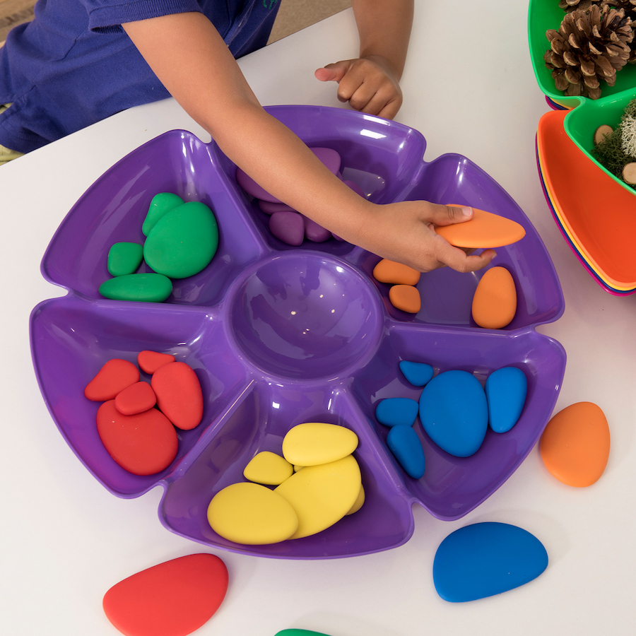 buy assorted colours flower sorting and paint trays tts international