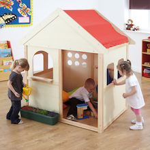 Indoor Wooden Playhouse W140 x D97 x H160cm  medium