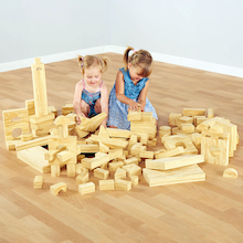 Soft Wood Effect Foam Construction Blocks  medium