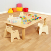 Large Natural Wooden Table H400mm  small