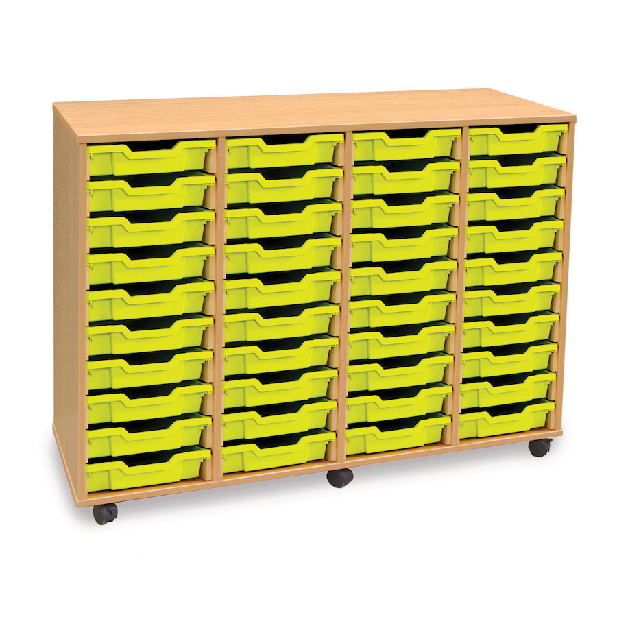 ... Mobile Tray Storage Unit With 40 Shallow Trays Small ...