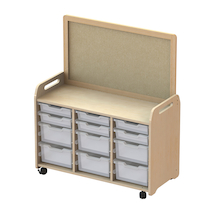 Millhouse Unit (730mm) with Display Add-on and 9 Deep Trays Clear  medium
