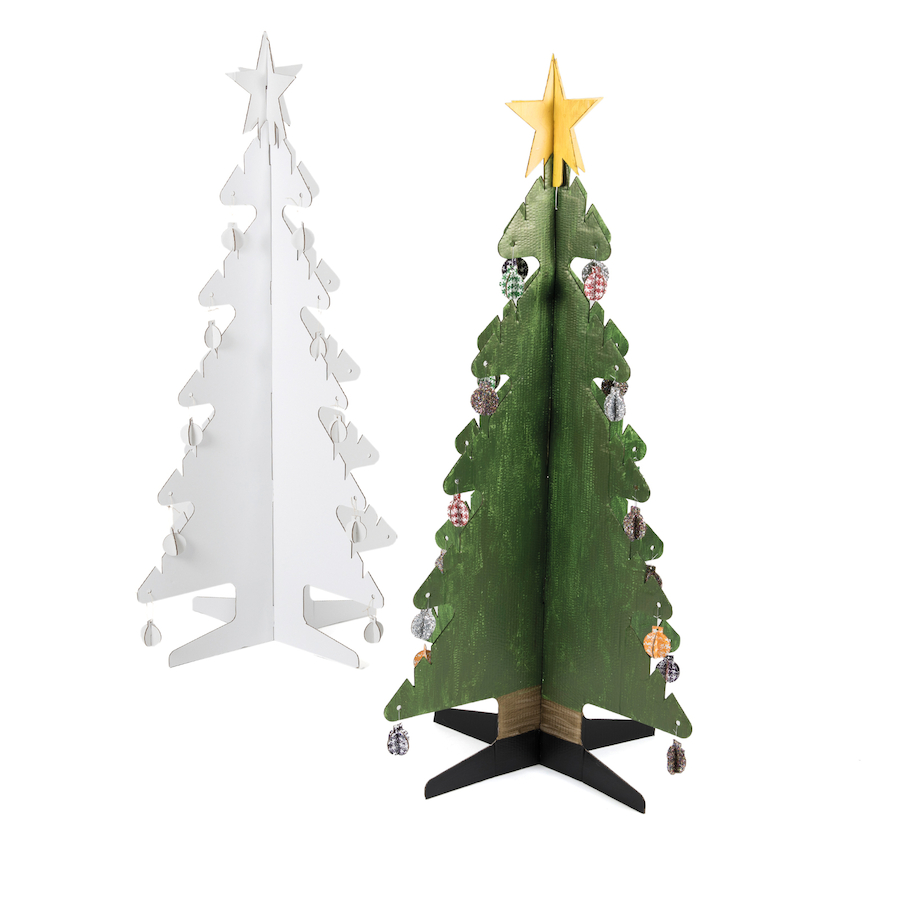 Buy Kid-Eco Cardboard Christmas Tree - White | TTS International