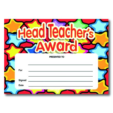 Buy Headteachers Award Certificates | TTS International