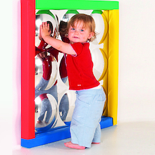 Sensory Bubble Mirror with Padded Frame  medium