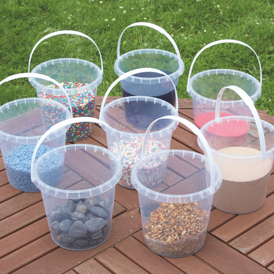 buy clear plastic water buckets 8pk tts international