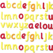 Foam Magnetic Phonic Cursive Letters Pack  medium
