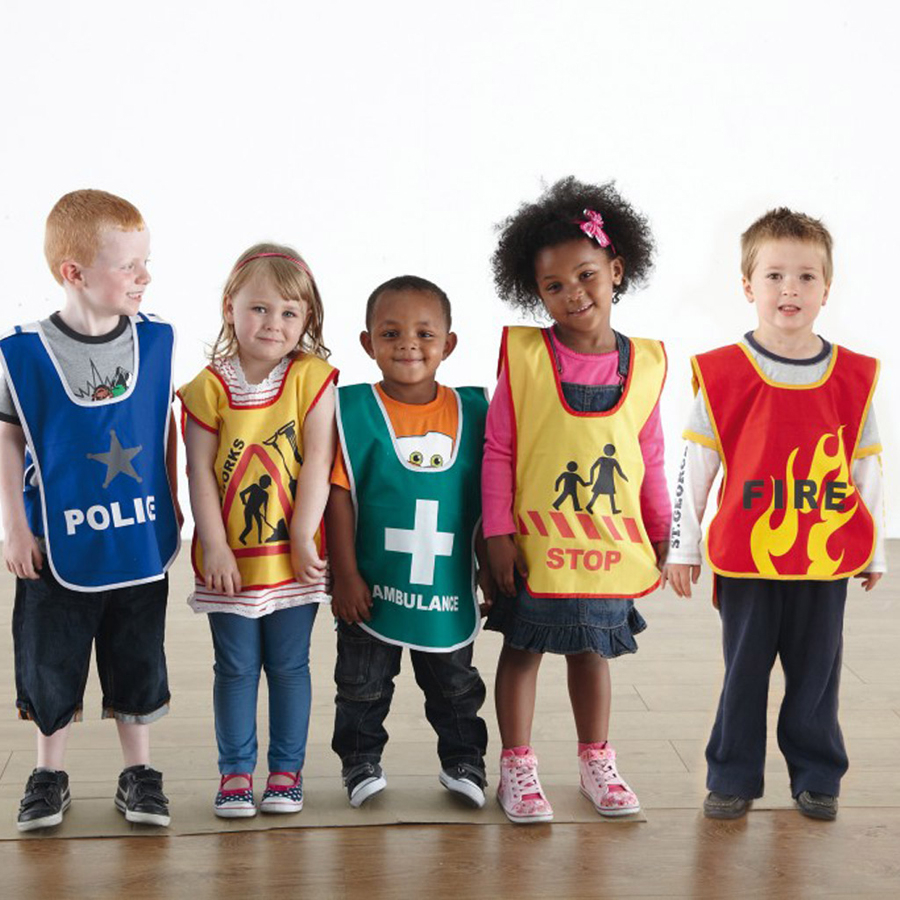 buy traffic and emergency dress up tabards 5pk tts international